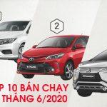 Top 10 xe ô tô bán chạy nhất tháng 6 năm 2020